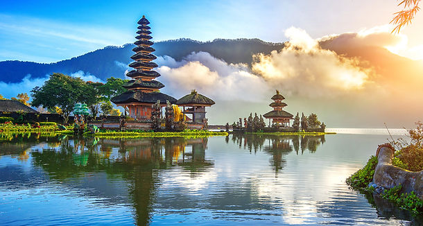 pura ulun danu bratan temple in Bali, in