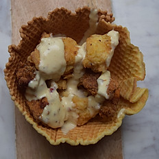 Chicken in a Waffle Bowl