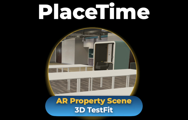 3D Office Test Fit - walk the space with AR Property Scenes