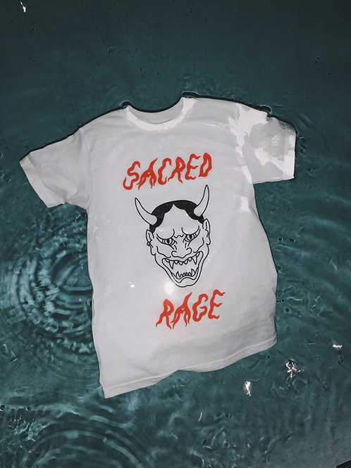 sacred rage tee - white