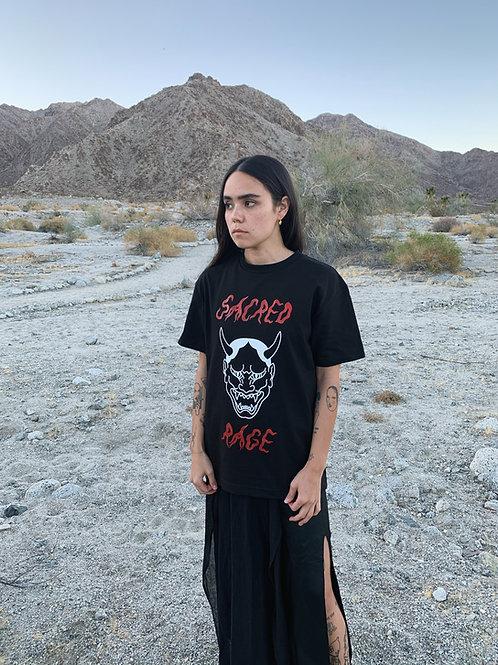 sacred rage tee - black