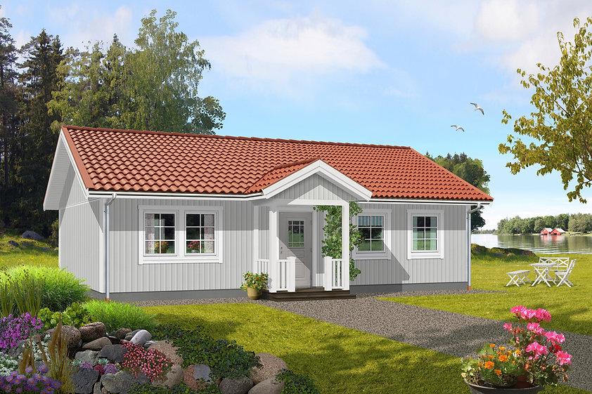 82 m2 enplanshus med grå fasad