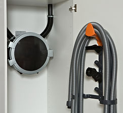 Duo black cupboard backwall incl cleanin