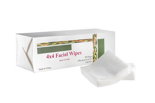 Soft Facial Wipes 4 x 4 pack of 200