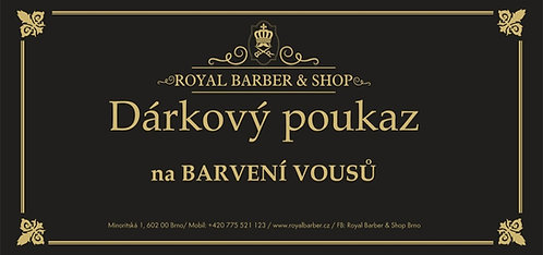 Dárkový poukaz Royal Barber Shop Barvení vousů