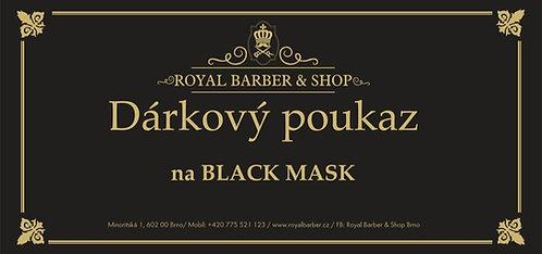 Dárkový poukaz Royal Barber Shop Black mask