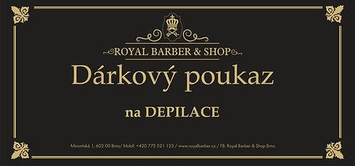Dárkový poukaz Royal Barber Shop Depilace nosních chloupků