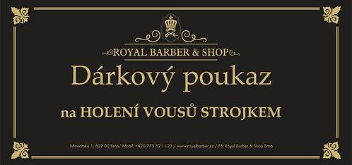 Dárkový Poukaz Royal Barber Shop Holení vousů strojkem