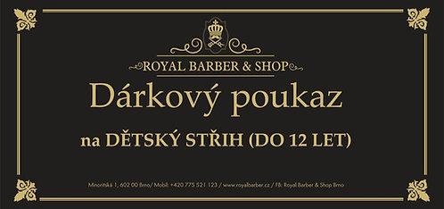 Dárkový Poukaz Royal Barber Shop Děcký střih
