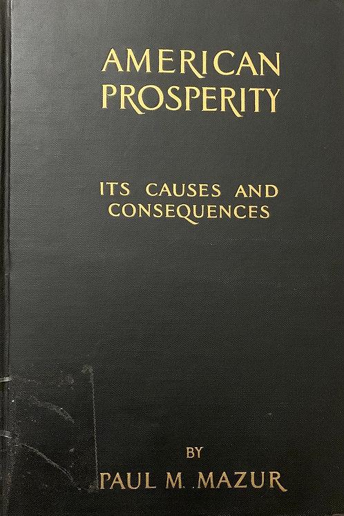 American Prosperity by Paul Mazur