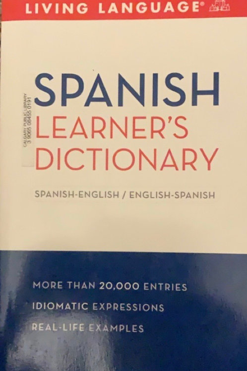Spanish Learner's Dictionary