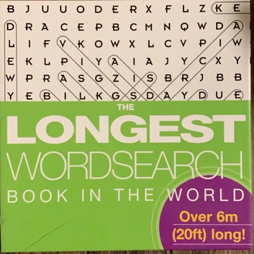 The Longest Wordsearch Book in the World