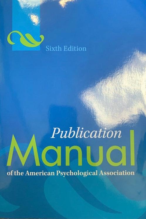 Publication Manual of the APA