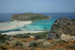 Balos Bay: unspoiled nature