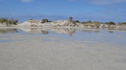 Shallow water at Elafonisi