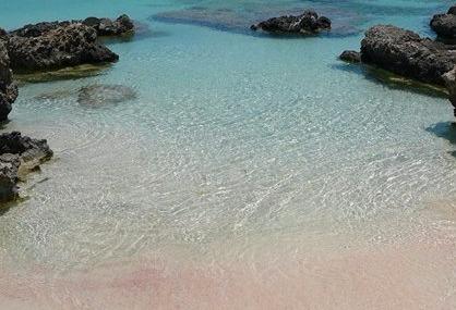 Pink sand at Elafonisi