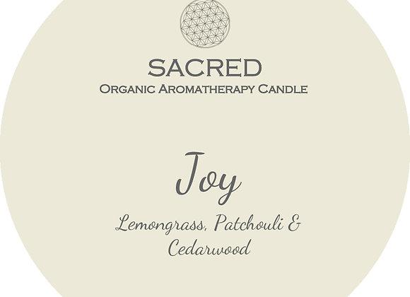 JOY- Mason Jar Candle