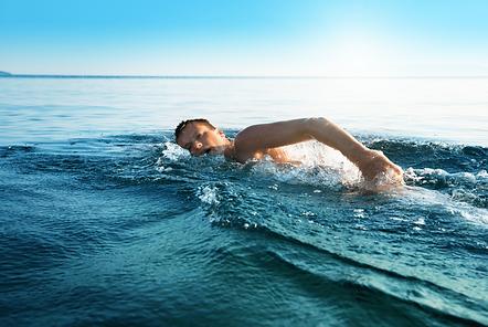 Cours de natation en mer golfe de Saint-Tropez Var France