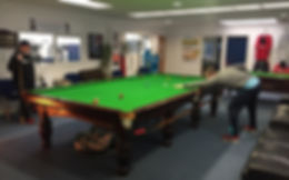 Full size professional snooker tables for play and for hire. Comfortable surroundings and drinks and snacks.