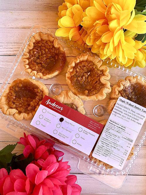 Maple Walnut Butter Tarts Pkg of 6