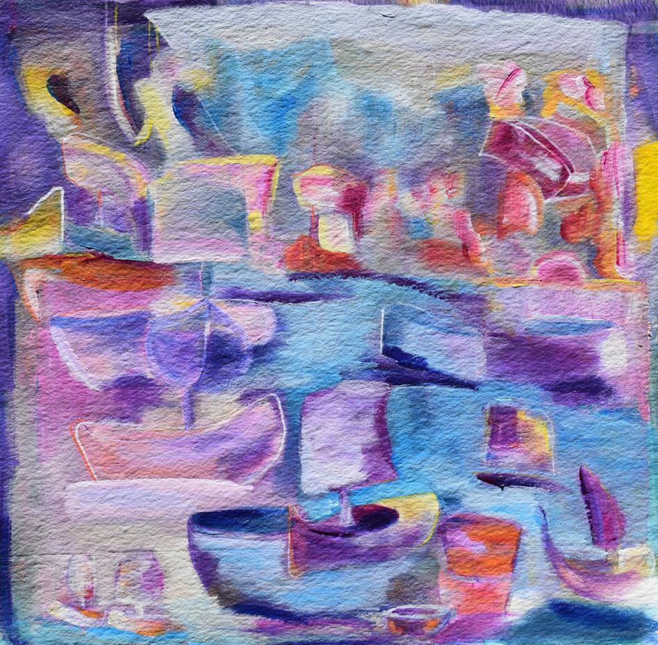 Regatta in purple