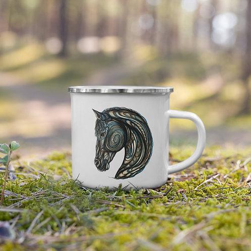 Tribal Horse ~ Enamel Mug