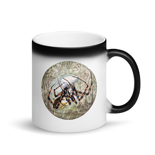 Spider ~ Matte Black Magic Mug