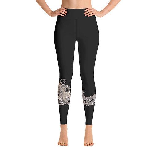 Kraken ~ Yoga Leggings Black