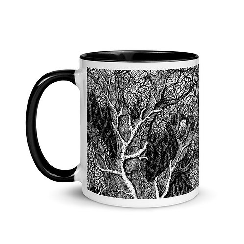 Owl in Tree ~ Mug with Color Inside
