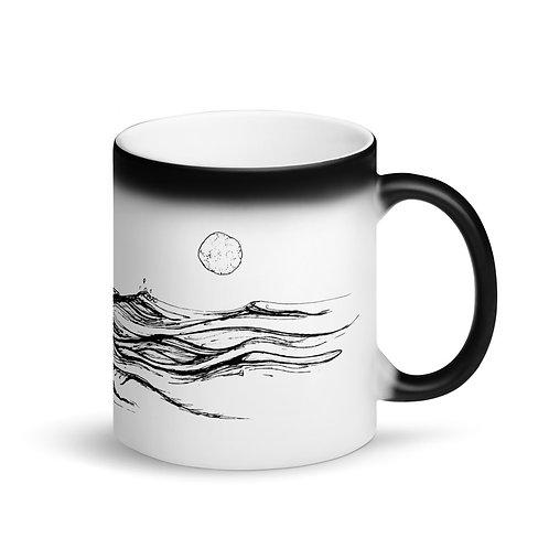 Sea Change ~ Matte Black Magic Mug