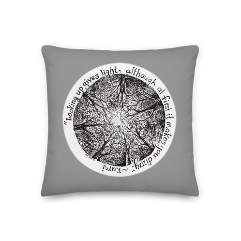 Looking Up & Choices ~ Premium Pillow