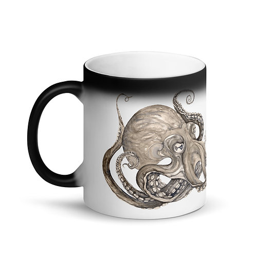 Kraken ~ Matte Black Magic Mug
