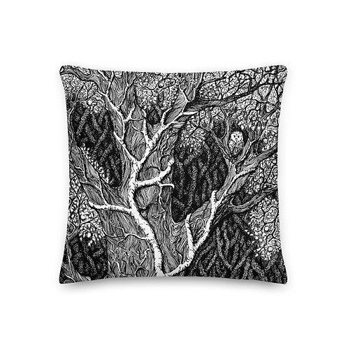 Owl in Tree ~ Premium Pillow