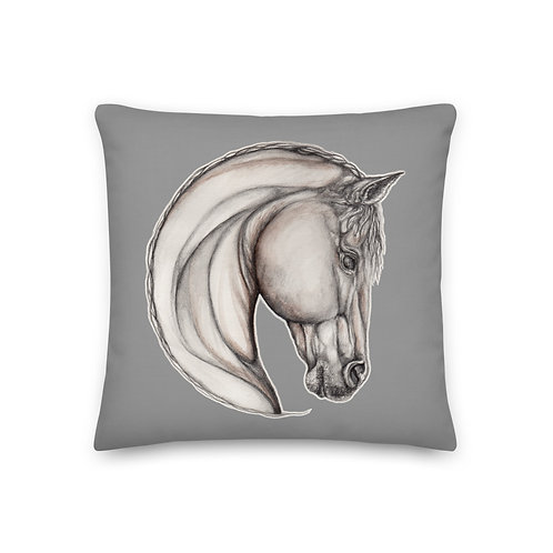 Horse Sketch ~ Premium Pillow