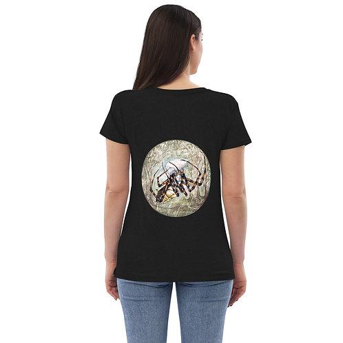 Spider (on Back) ~ Women's recycled v-neck t-shirt