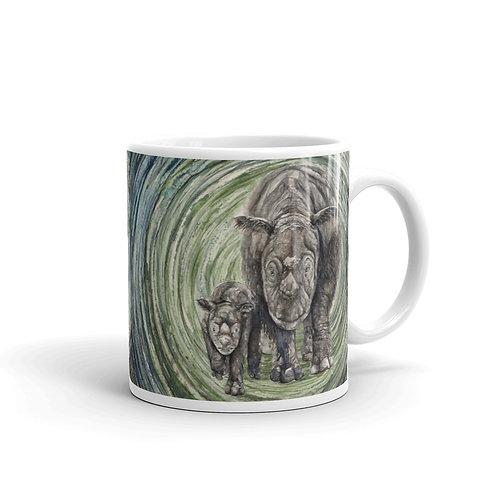 Sumatran Rhinos ~ Mug