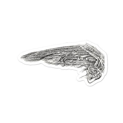 Clock (wings) ~ sticker