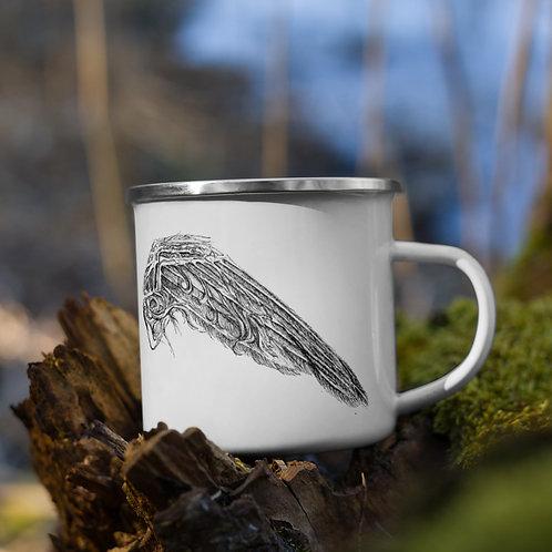 Clock (wings) ~ Enamel Mug