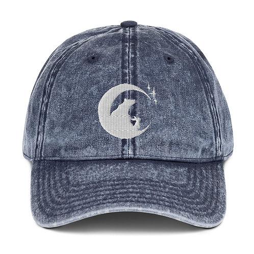 Moon, Bear & Rabbit ~ Vintage Cotton Twill Cap