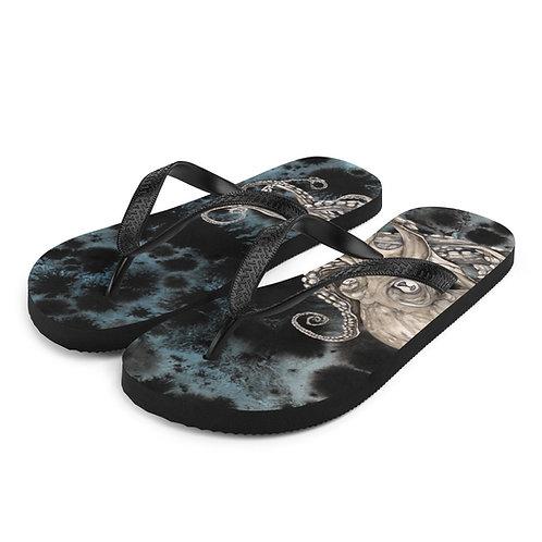 Kraken (tye-died) ~ Flip-Flops