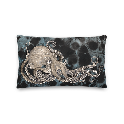 Kraken with background ~ Premium Pillow