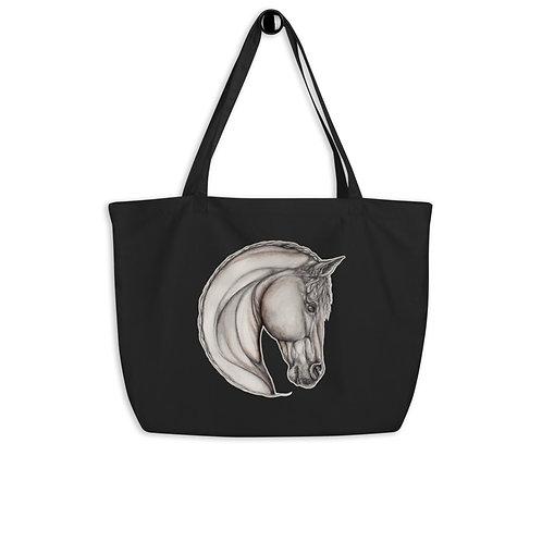 Horse Sketch ~ Large organic tote bag
