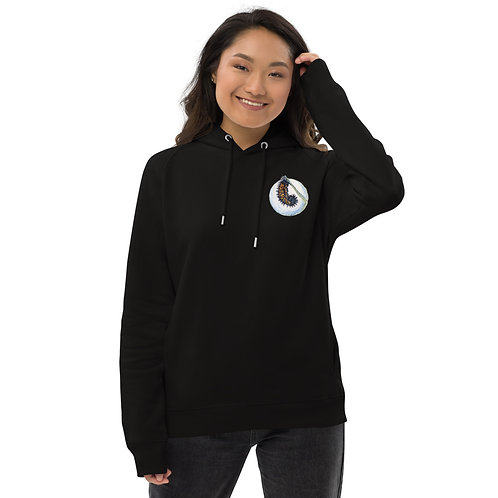 Checkerspot Butterfly (wings open & caterpillar) ~ Unisex pullover hoodie