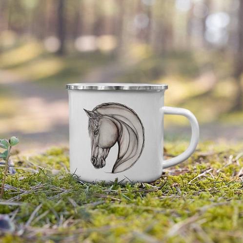 Horse Sketch ~ Enamel Mug