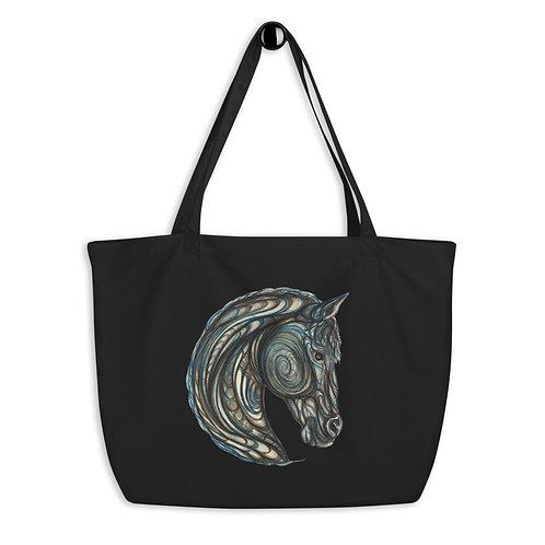 Tribal Horse ~ Large organic tote bag