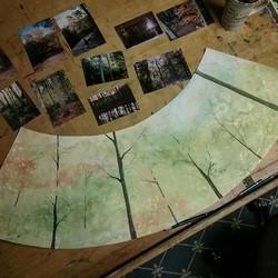 Progress on the Fall Trees shade...jpg
