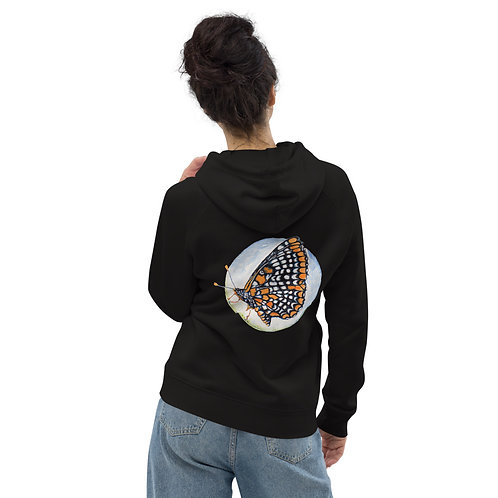 Checkerspot Butterfly (wings closed & cocoon) ~ Unisex pullover hoodie