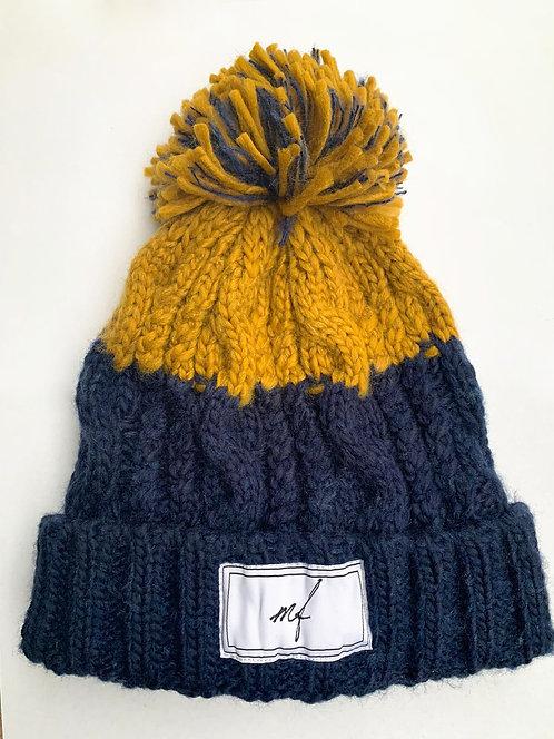 Navy/Mustard hat