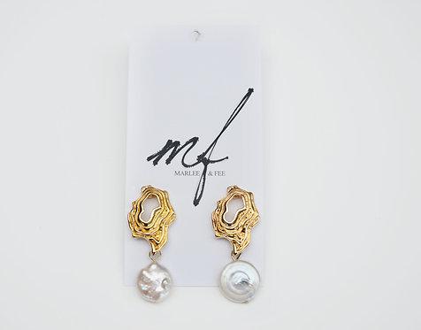 Abstract drop earrings