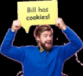 "Man Saying ""Bill Has Cookies!"""